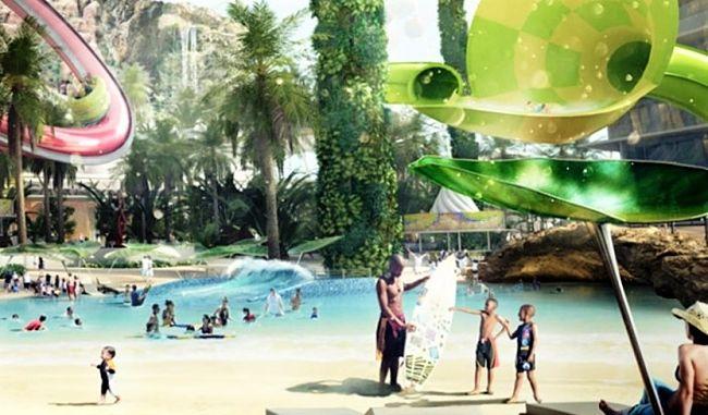 Waterpark in EuropaCity - Beeld: © Wanda Group / EuropaCity