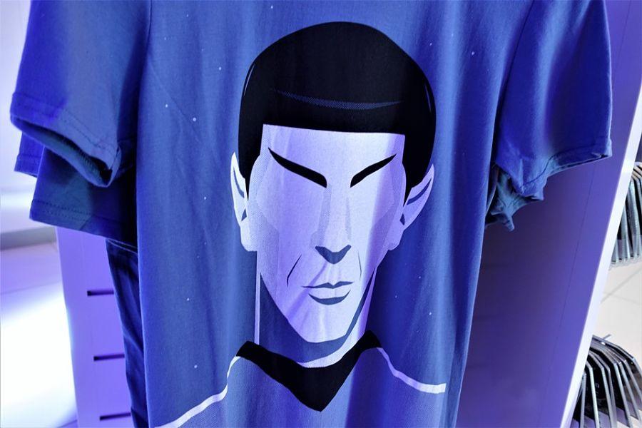 Captain Spock op een T-shirt in Movie Park Germany – Foto: © Adri van Esch
