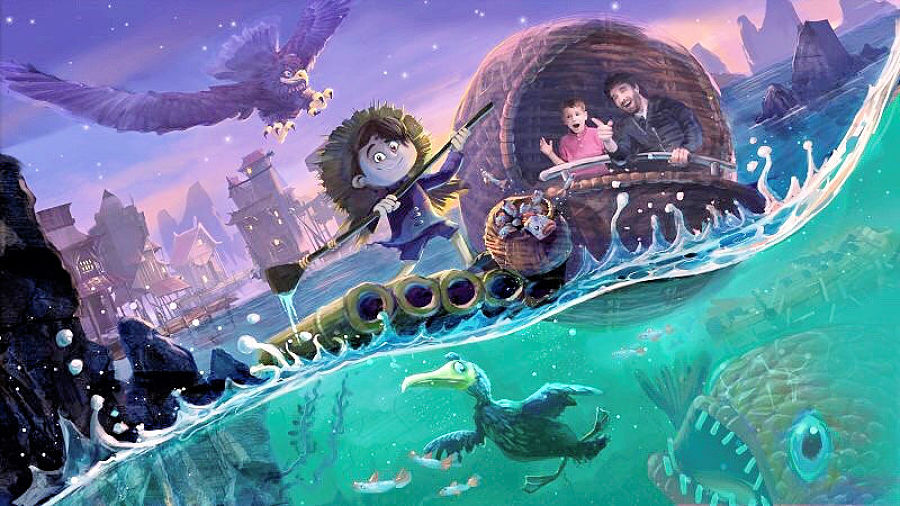 A Fish Tale als darkride - Beeld: Aardman Animations