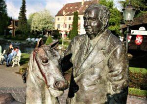 Franz Mack, kunstwerk van Wim Steins in Europa Park - Foto: © Adri van Esch