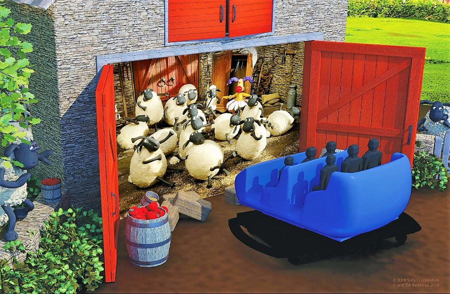 Shaun the Sheep-darkride van Sally Corporation