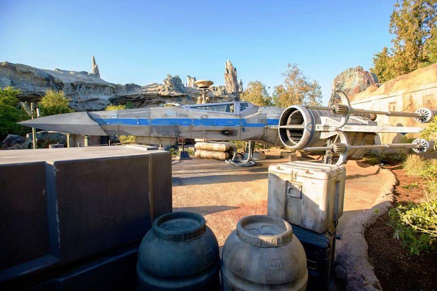 X Wing Starfighter in Star Wars: Galaxy's Edge - Foto: © Disney / Richard Harbaugh