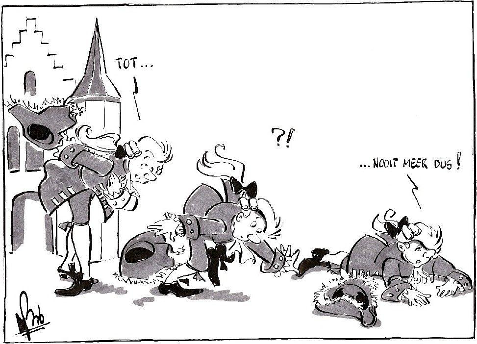 Tot (n)ooit in het Land van Ooit - Cartoon: Bob Leenders