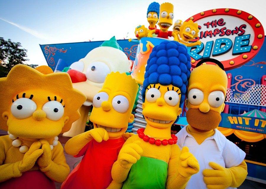 The Simpsons Ride in Universal Studios in Orlando