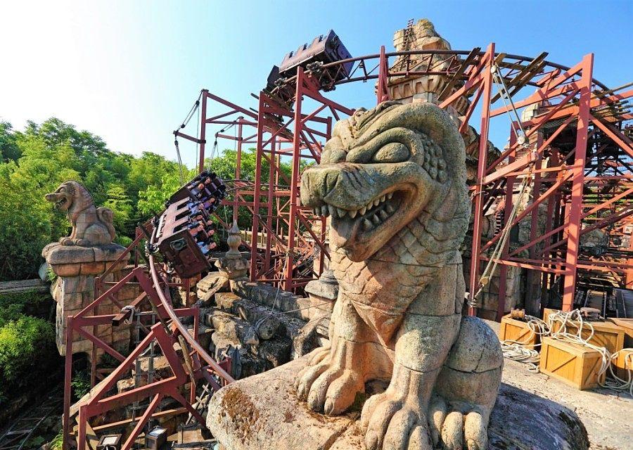Achtbaan Indiana Jones and the Temple of Peril in Adventureland in Disneyland Paris – Foto: © Disney