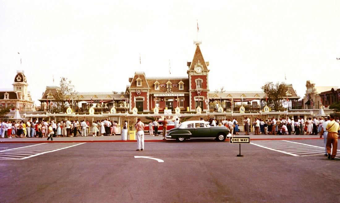 Disneyland op 17 juli 1955