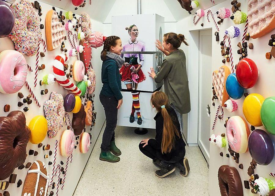 Museum GRIMMWELT in Kassel, installation Hexenhaus - Foto: Nikolaus Frank