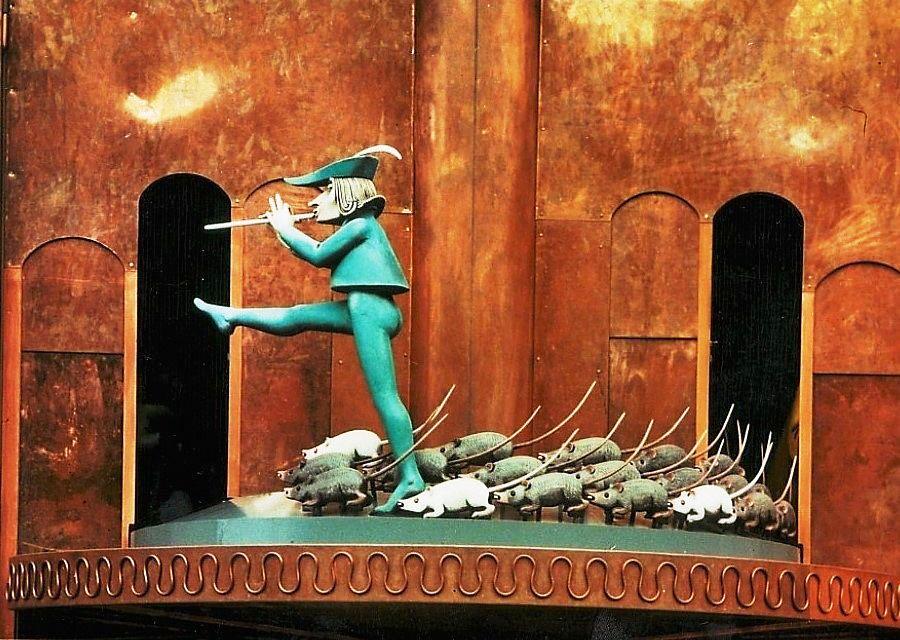 Figurenspel van de Rattenvanger van Hamelen - Foto: Deutsche Märchenstrasse