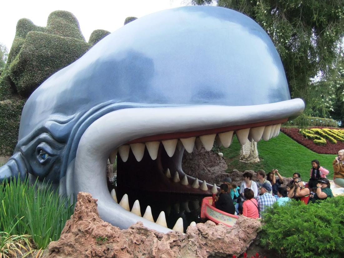 Monstro in Storybook Land Canal Boats in Disneyland - © Adri van Esch
