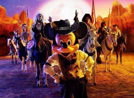 Buffalo Bill's Wild West Show in Disney Village, met Mickey Mouse - Foto: © Disney
