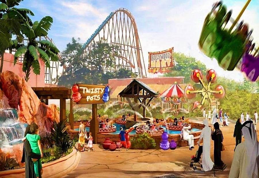 Hybride achtbaan voor Bollywood Park Dubai