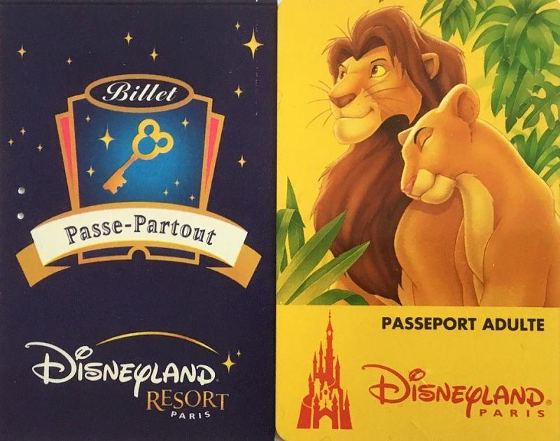 Paspoorten voor Disneyland Paris uit 2001 en 2004 - Foto: © Adri van Esch