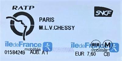 RER-ticket van Parijs naar Disneyland - Foto: © Adri van Esch