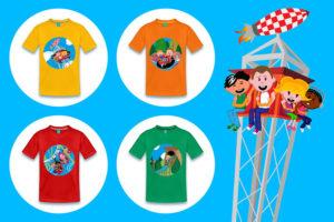 T-shirts met illustraties van Parkplanet4kids