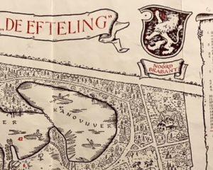 Detail van een oude plattegrond van de Efteling – Foto: © Adri van Esch