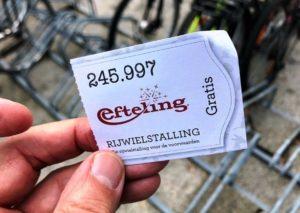 Ticket fietsenstalling Efteling - Foto: © Adri van Esch