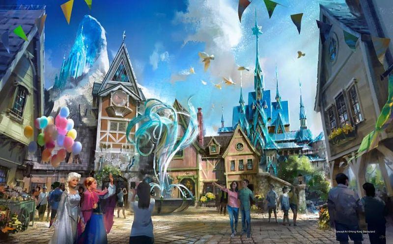 Het Kingdom of Arendelle uit Frozen in Hong Kong Disneyland - Beeld: © Hong Kong Disneyland