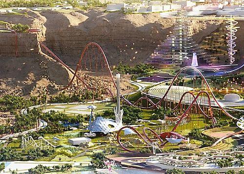 Falcon's Flight in Six Flags Qiddiya