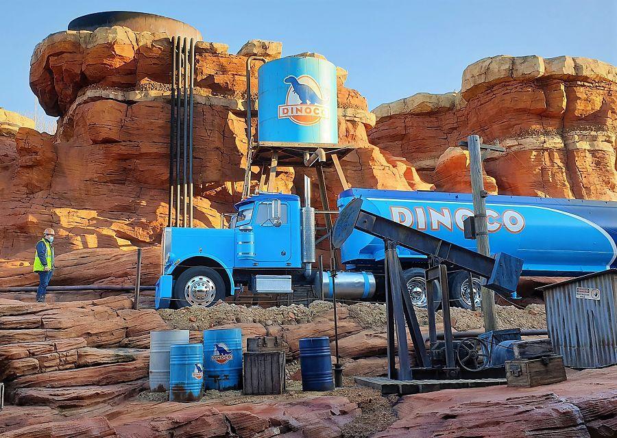 De bouw van Cars Road Trip in Walt Disney Studios Park Paris – Foto: © Disney/Pixar